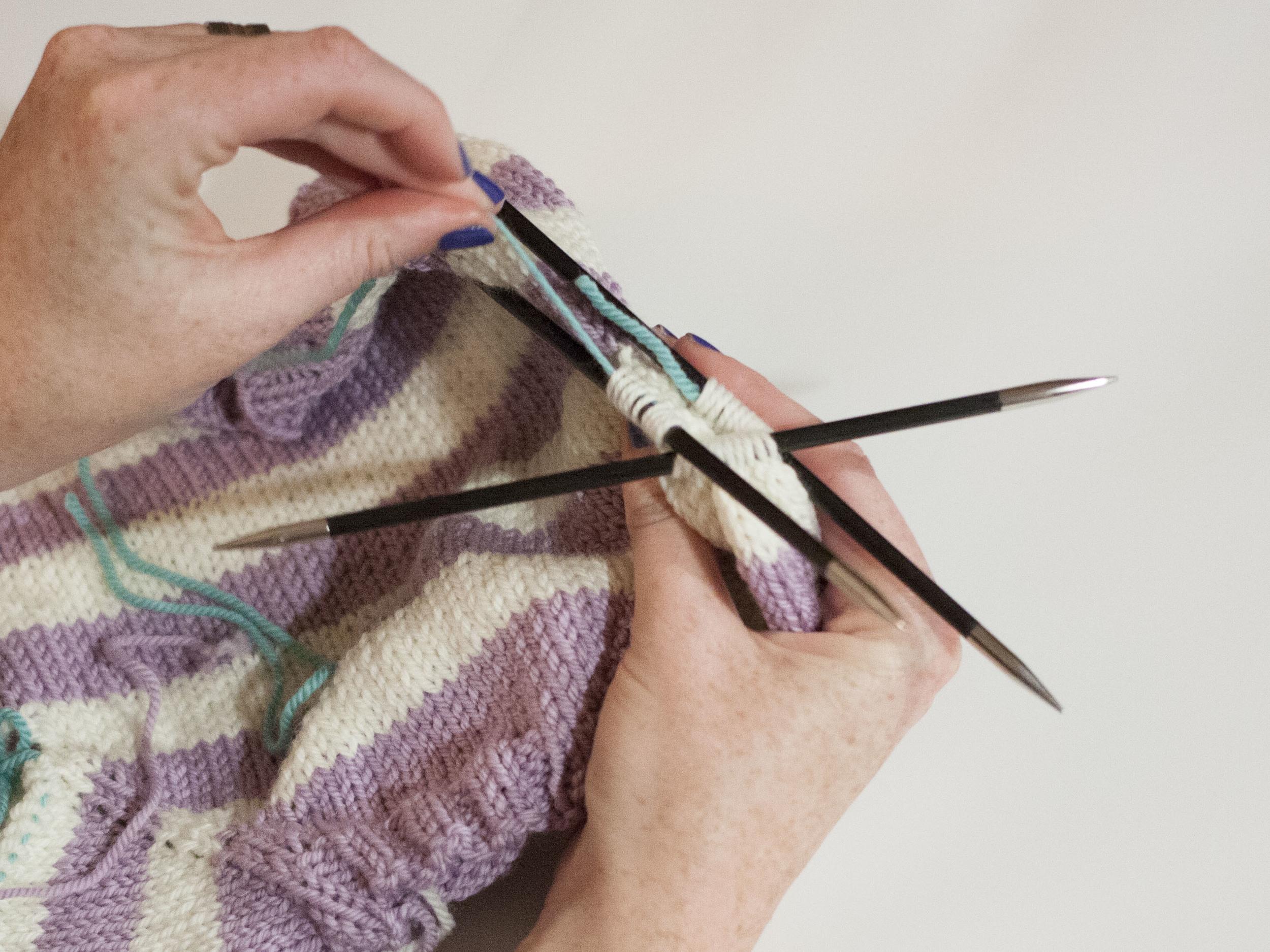 Removing a stitch holder