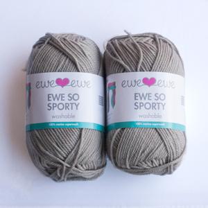 Brushed Silver yarn