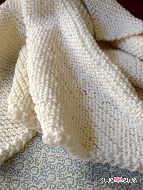 Serenity Baby Blanket  free knitting pattern.