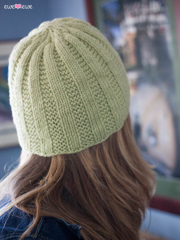 Cottage Cap  free hat knitting pattern with four sizes from baby to large adult!