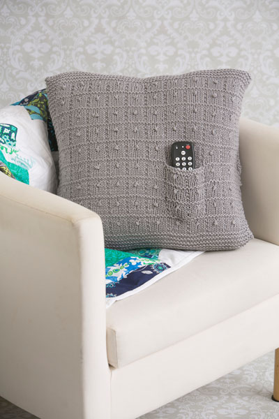 Hidden Pocket Pillow by Brenda Castiel