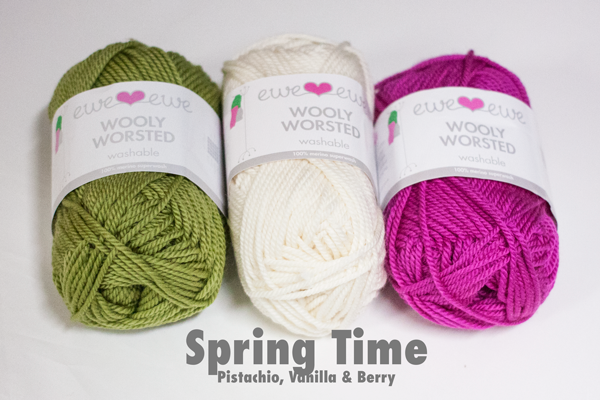 Bring spring shades (shown in sample photo)