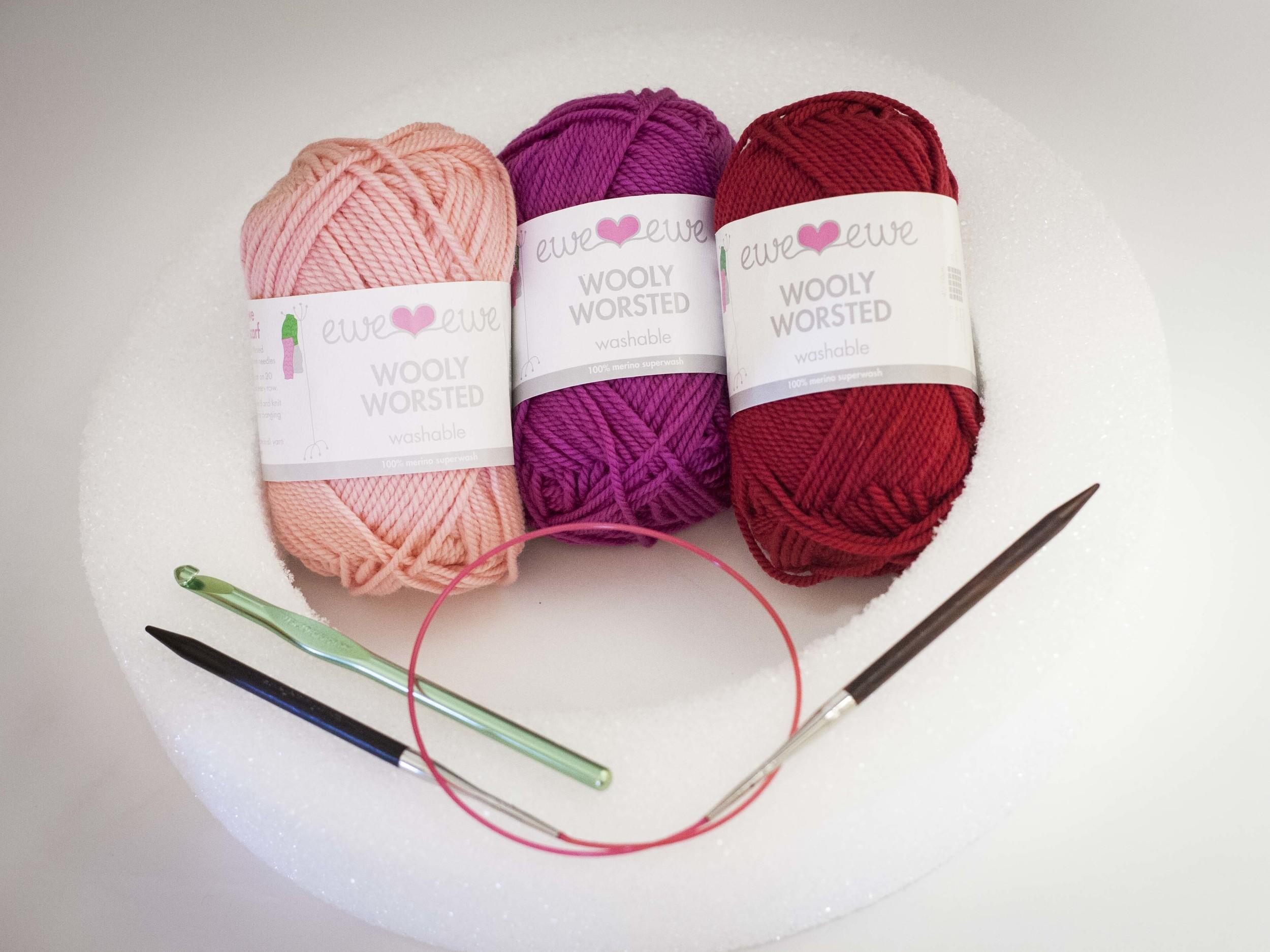 Wreath knitting supplies