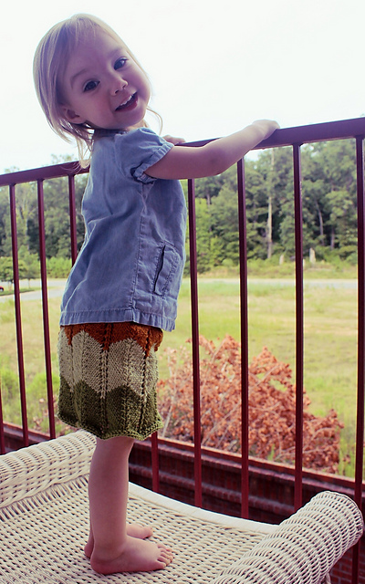 Norma Louise  skirt knitting pattern designed by Sarah Jo Burch