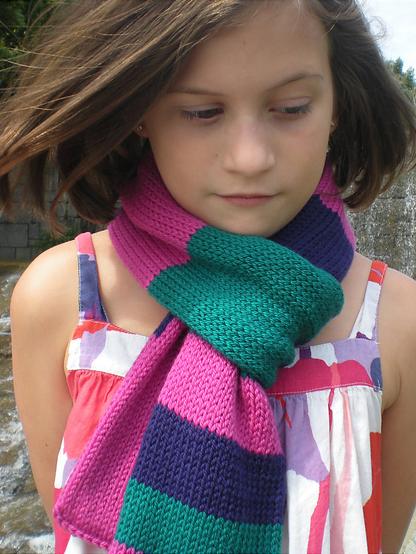 I luv Ewe Ewe scarf by donna higgens  knit using Ewe Ewe  Wooly Worsted merino yarn