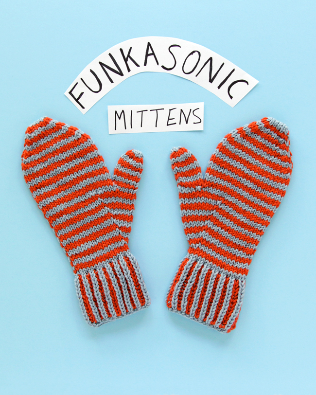 Funkasonic Mittens in Ewe So Sporty yarn