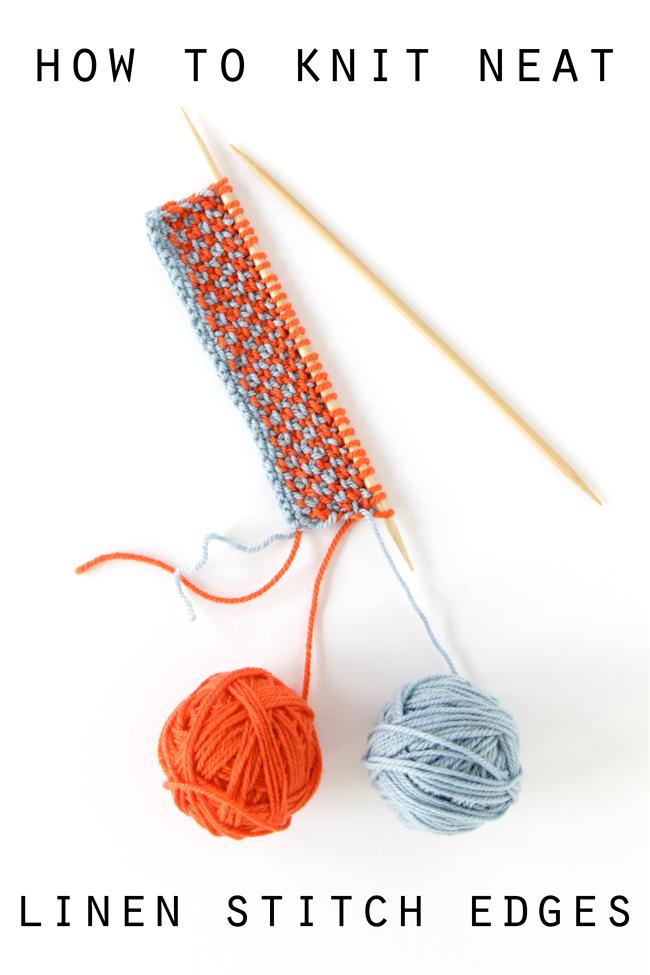 knit linen stitch