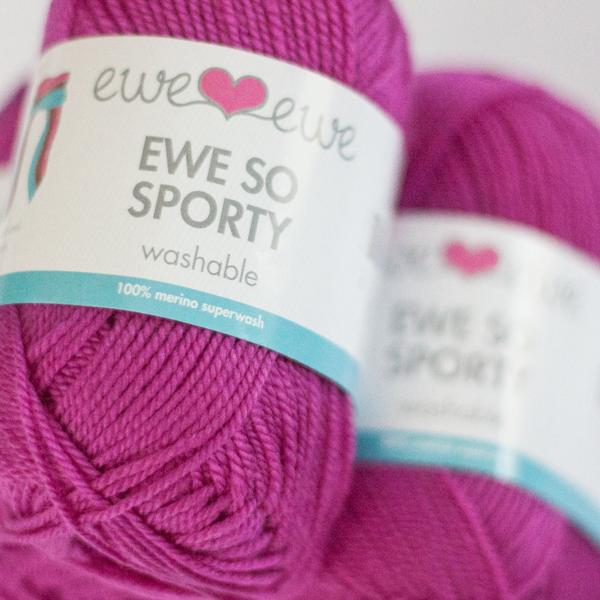 Ewe So Sporty merino yarn