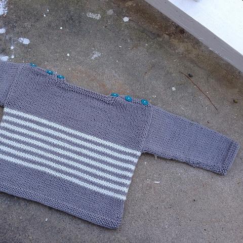 striped sweater in Ewe So Sporty yarn