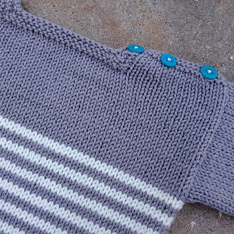 striped baby sweater with buttons