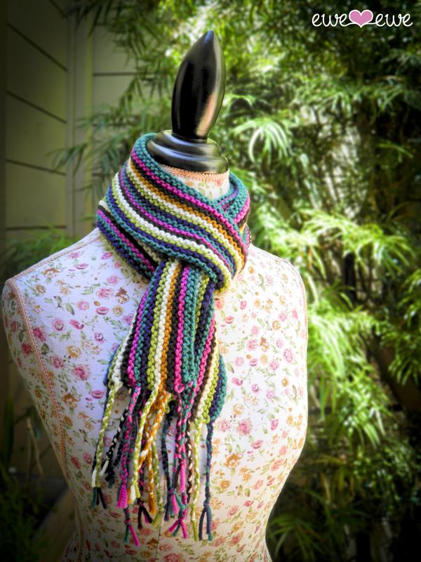 Wooly Stripe Scarf free knitting pattern