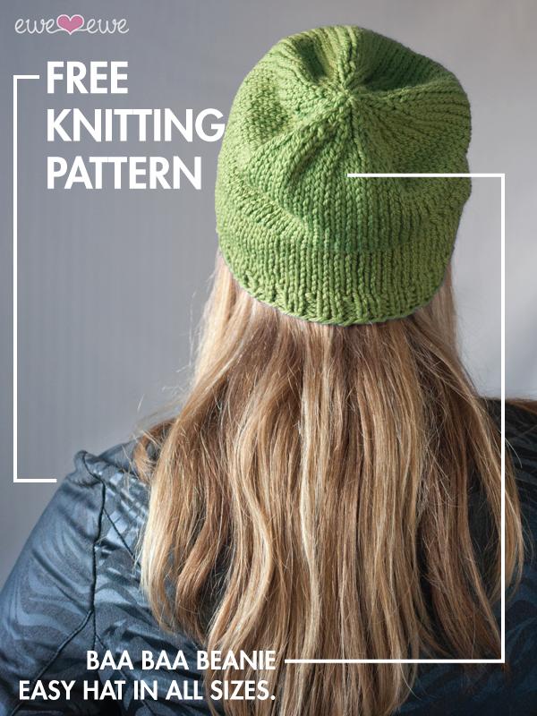 Baa Baa Beanie free hat knitting pattern