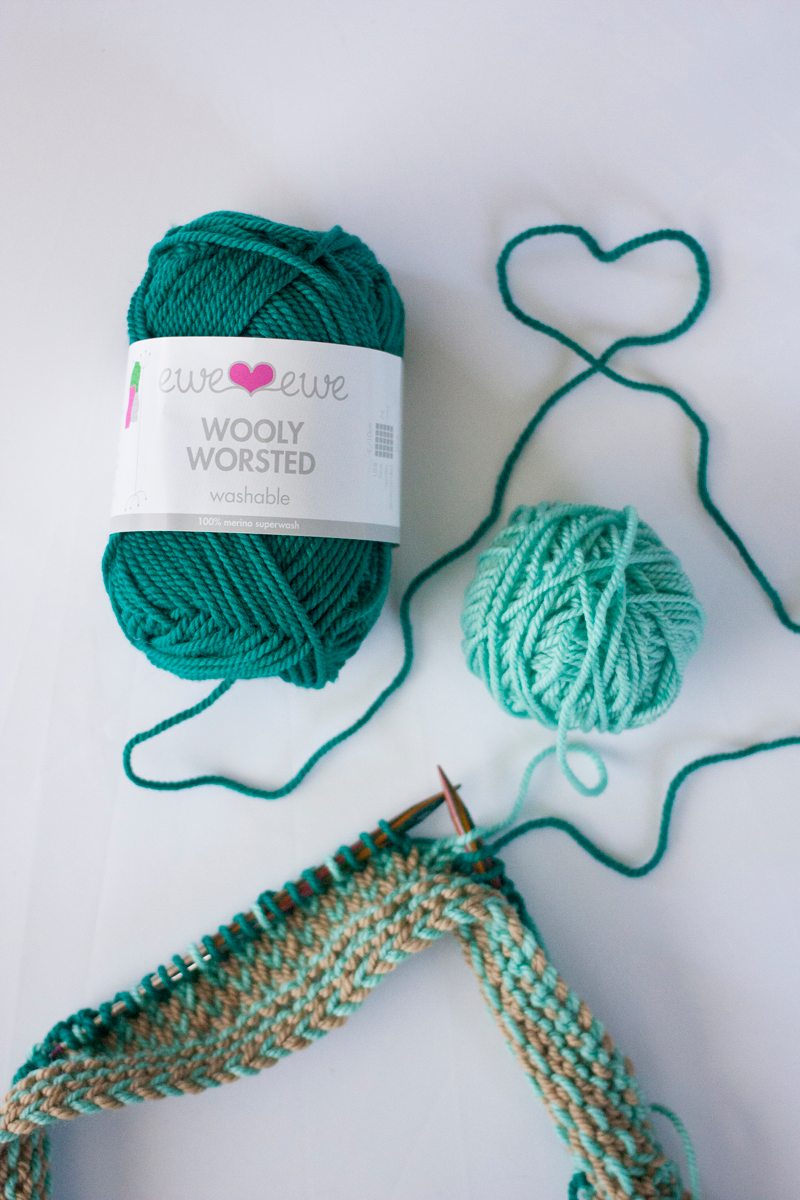 Wooly Worsted yarn heart