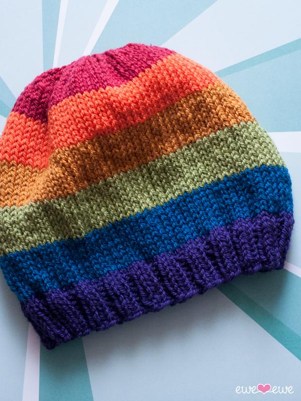 Pride Parade free hat knitting pattern