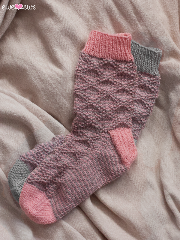 Serenity Slouch Socks  using  Ewe So Sporty yarn