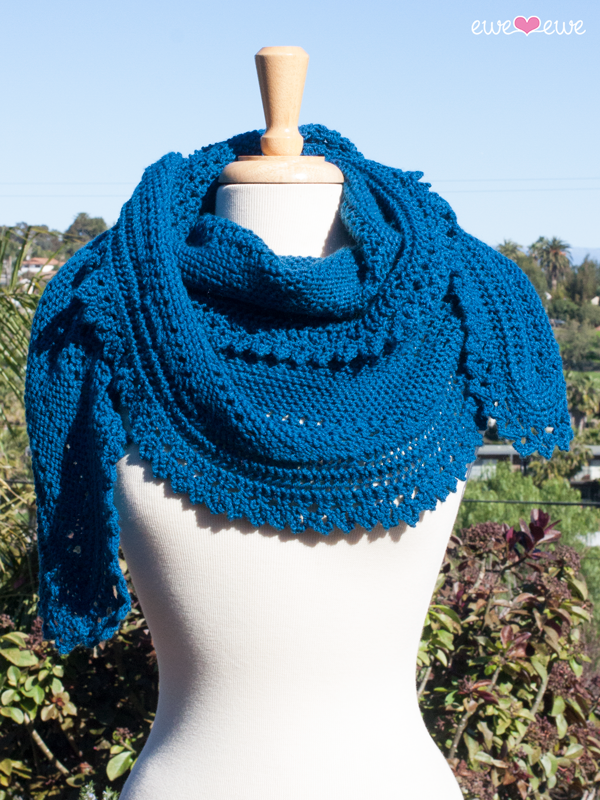 Seabreeze Scarf  using 6 balls of  Ewe So Sporty yarn