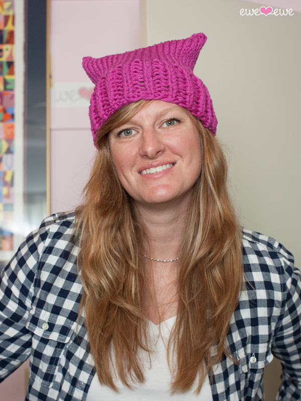 FREE:  2-Hour Pussy Cat Hat  using 1 ball of  Baa Baa Bulky yarn