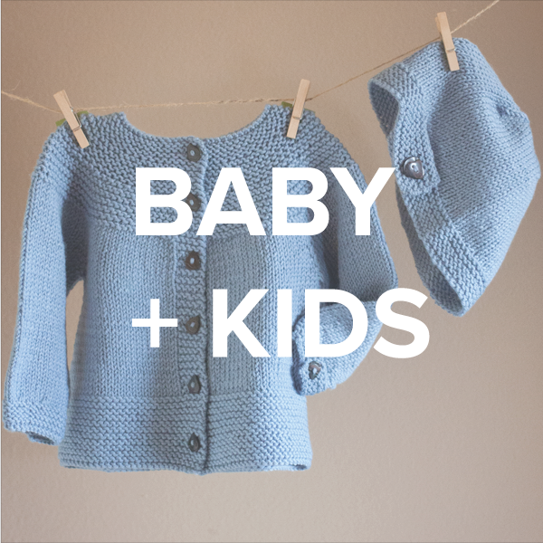 baby + kids knitting patterns