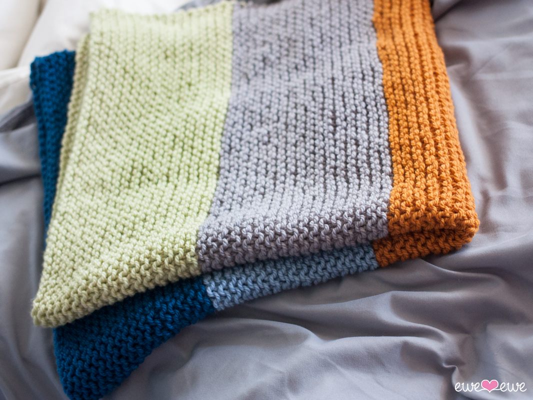 Big Bouncy Baby Blanket FREE knitting pattern