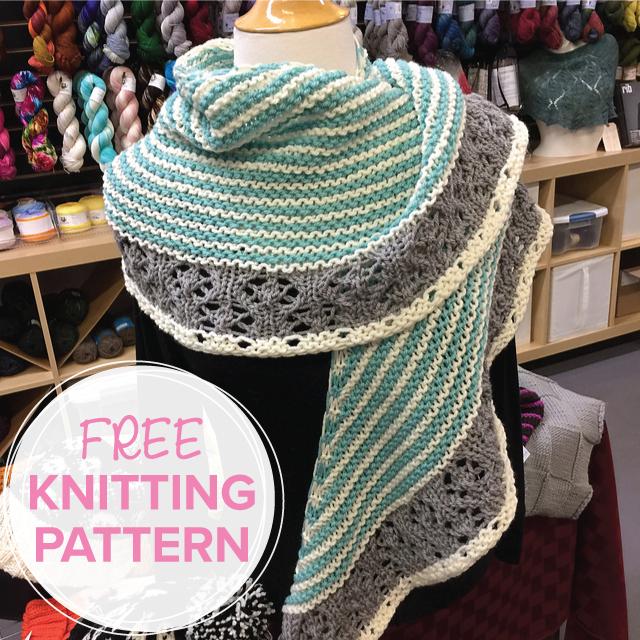 Muh-Muhs FREE shawl knitting pattern using Baa Baa Bulky merino yarn