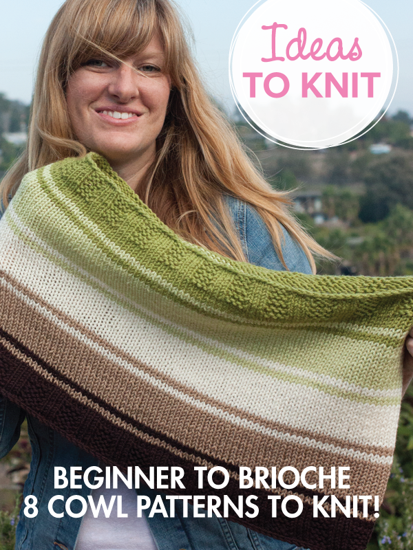 From beginner to brioche: 8 cowl patterns to knit!