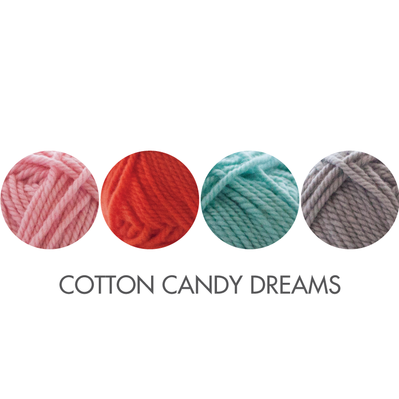 Stocking kit color option:  Cotton Candy Dreams