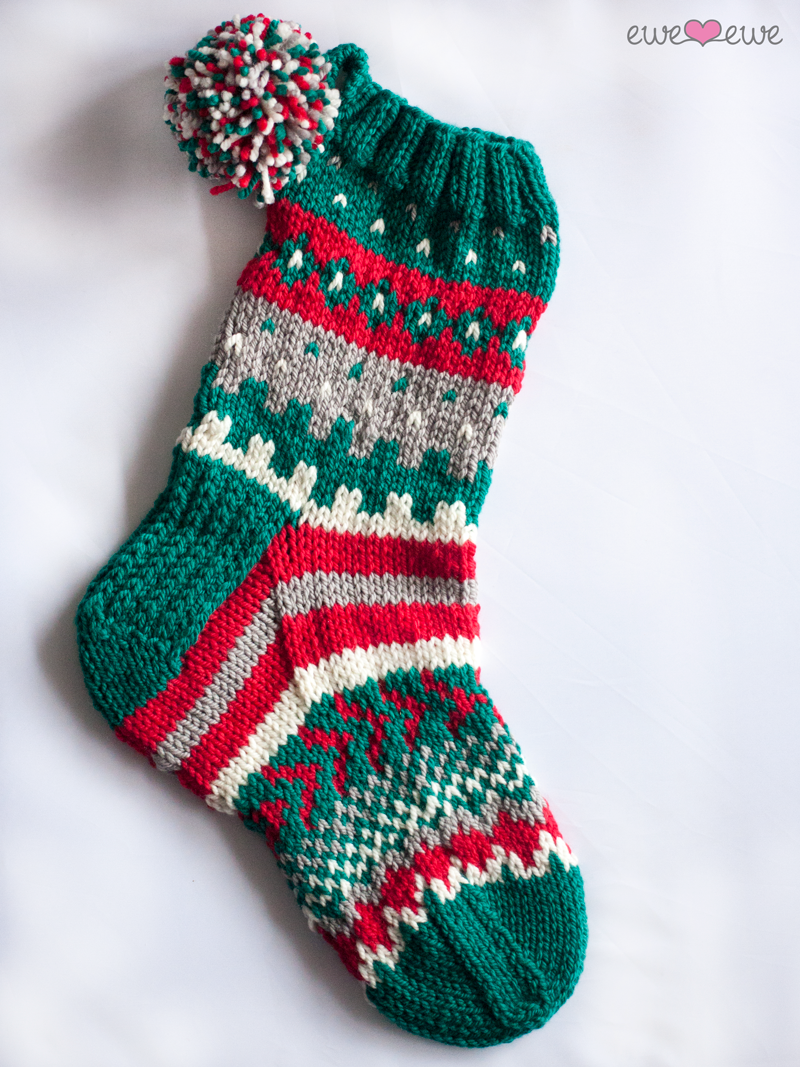 Option 1: Christmas stocking in Baa Baa Bulky