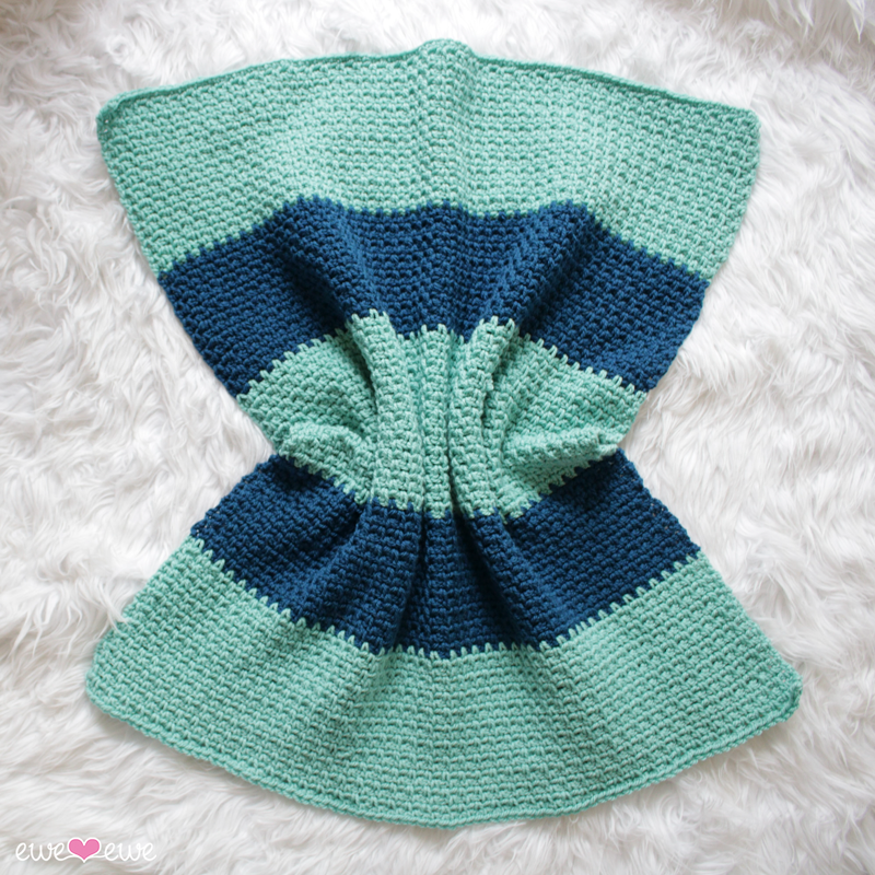 Hayden Color Block Baby Blanket free crochet pattern