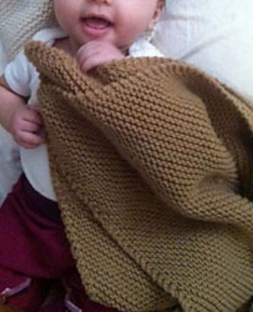 Garter Stitch Baby Blanket by Kathleen Cubley for Interweave  Knit using Ewe Ewe  Wooly Worsted washable yarn