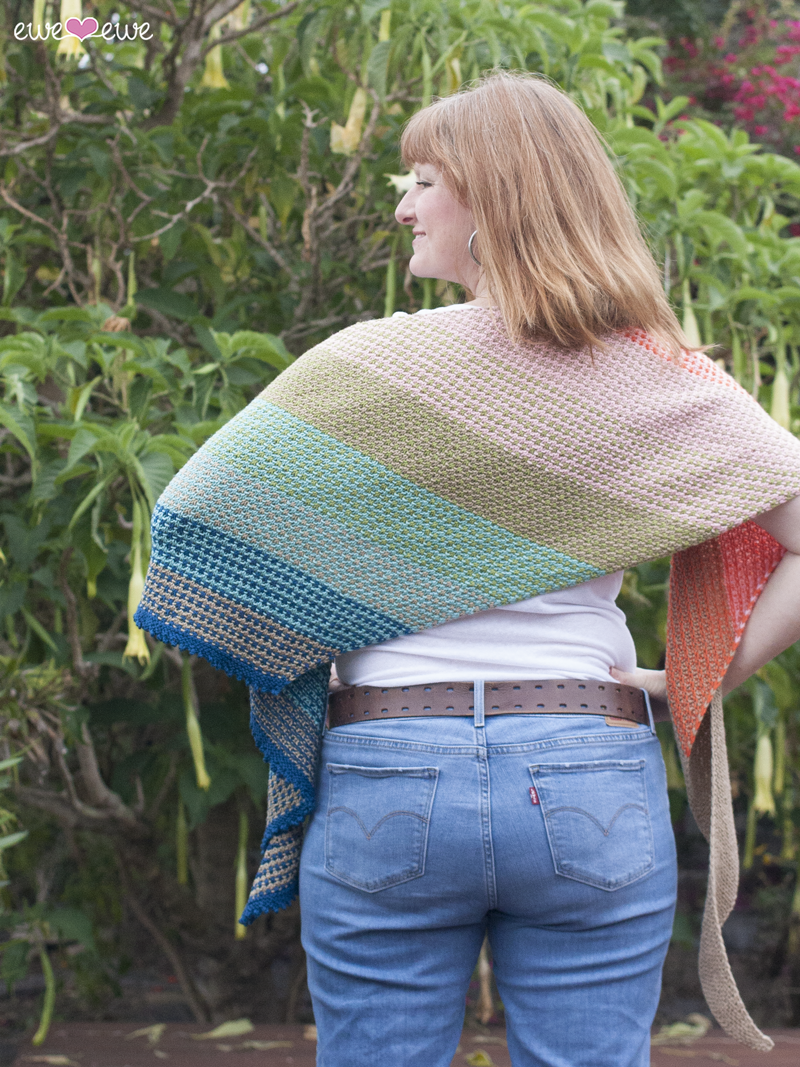 Ewe So Summer shawl  is a big, generous wrap!