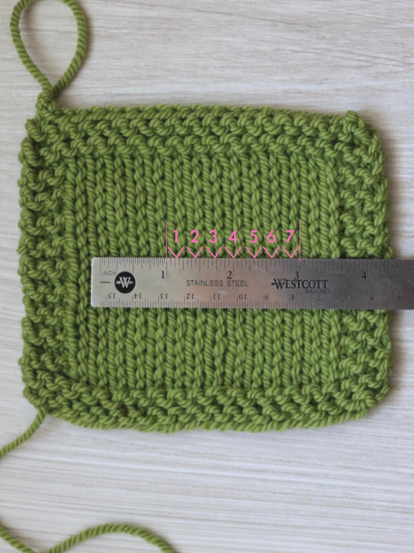 How to count stitches when checking knitting gauge