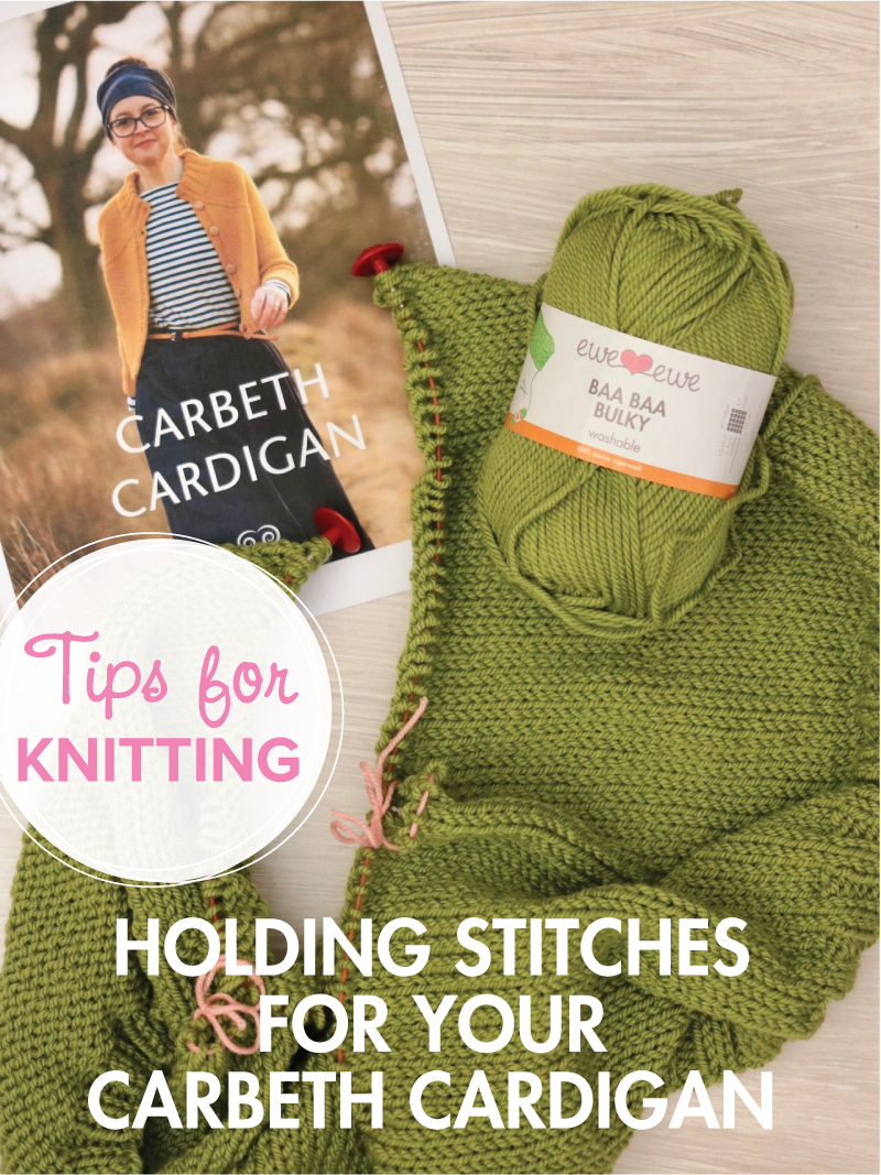 We are knitting the  Carbeth Cardigan  by Kate Davies using  Ewe Ewe Baa Baa Bulky yarn . See our  knit-along posts .