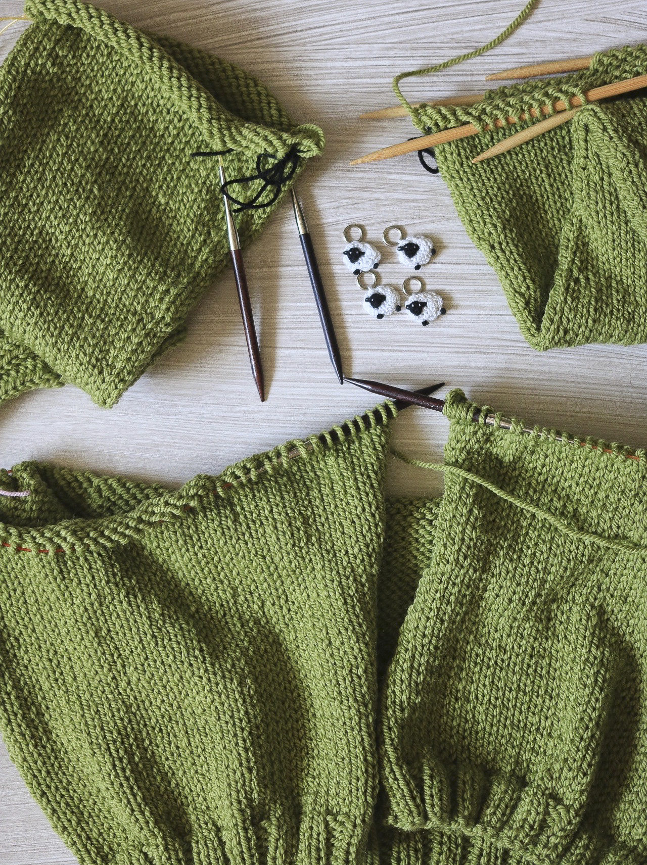 Parts of the Carbeth Cardigan before assembly