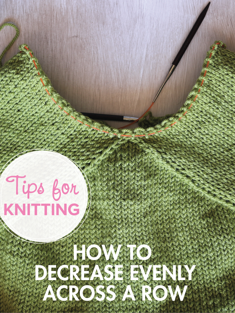 How to decrease evenly across a row in knitting