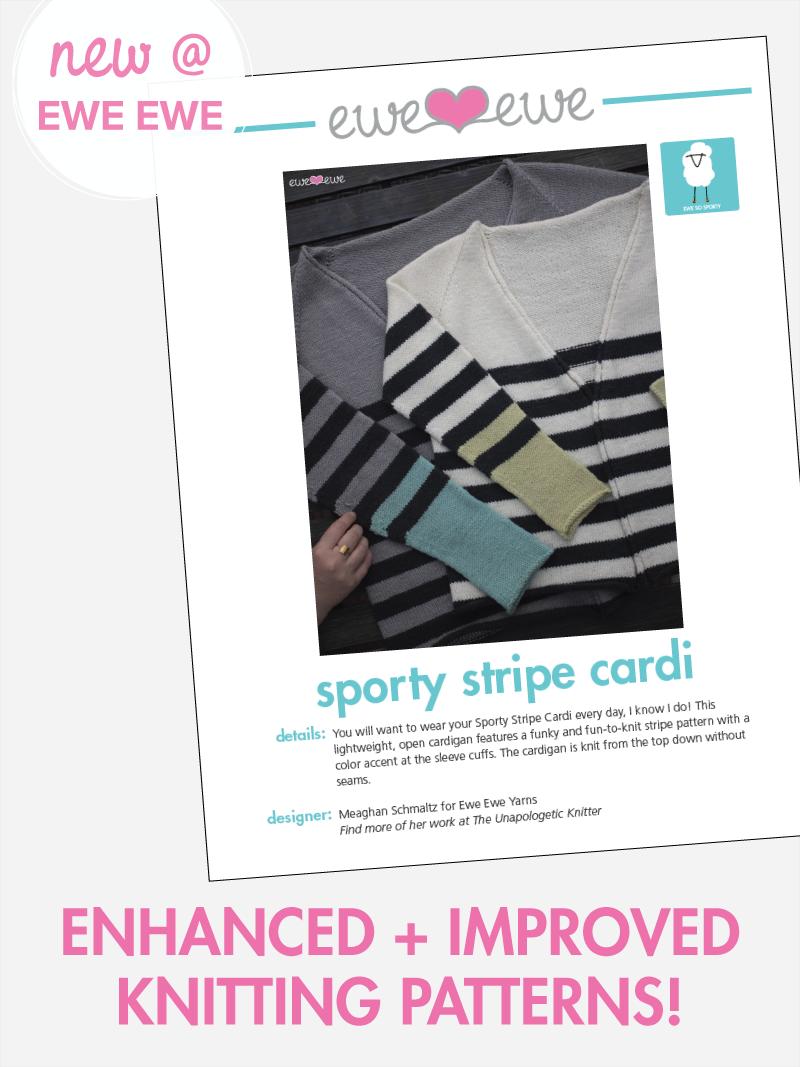 New pattern look at Ewe Ewe Yarns!