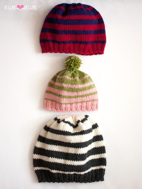 Family of Hats knitting pattern