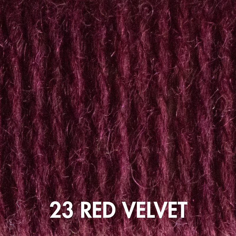 Fluffy Fingering yarn in Red Velvet