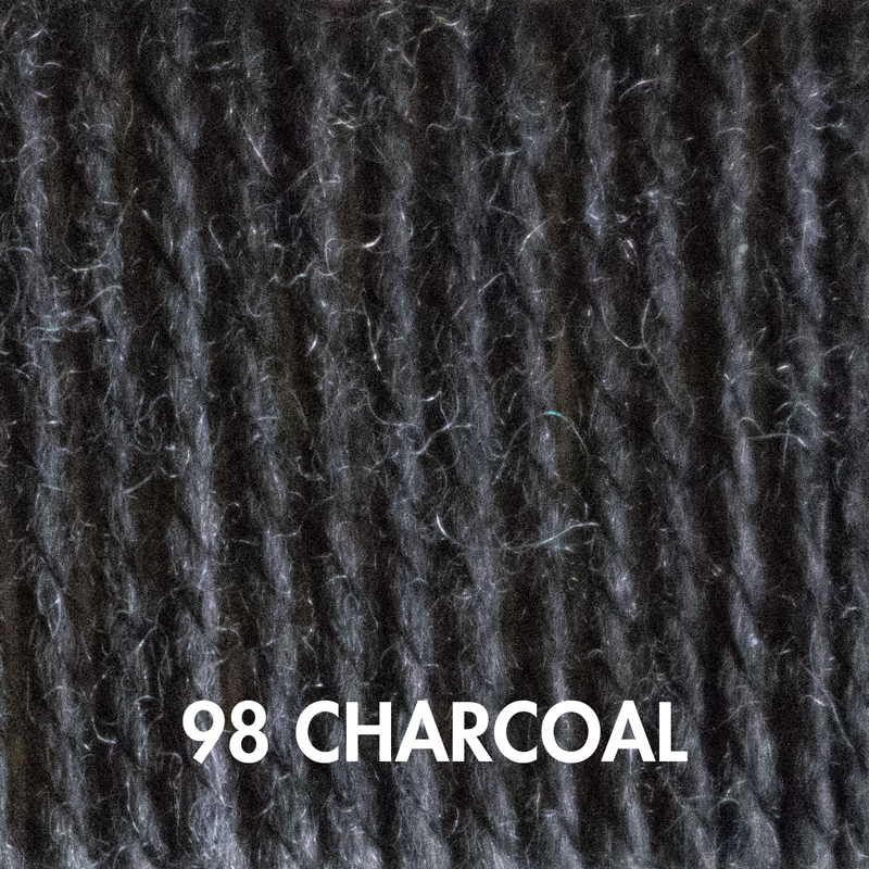 Fluffy Fingering yarn in Charcoal