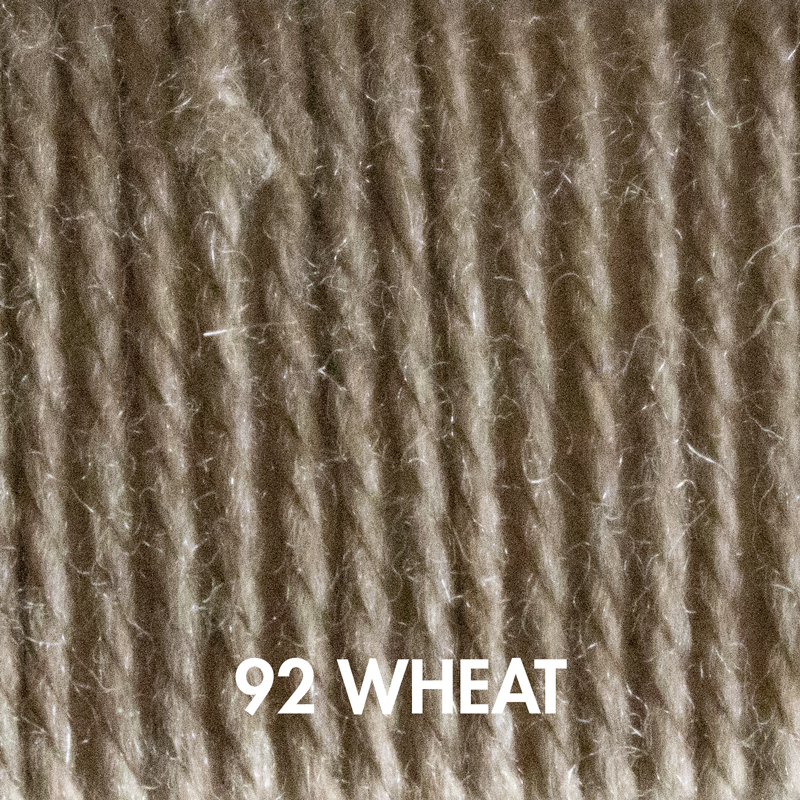 Fluffy Fingering sock yarn in Wheat