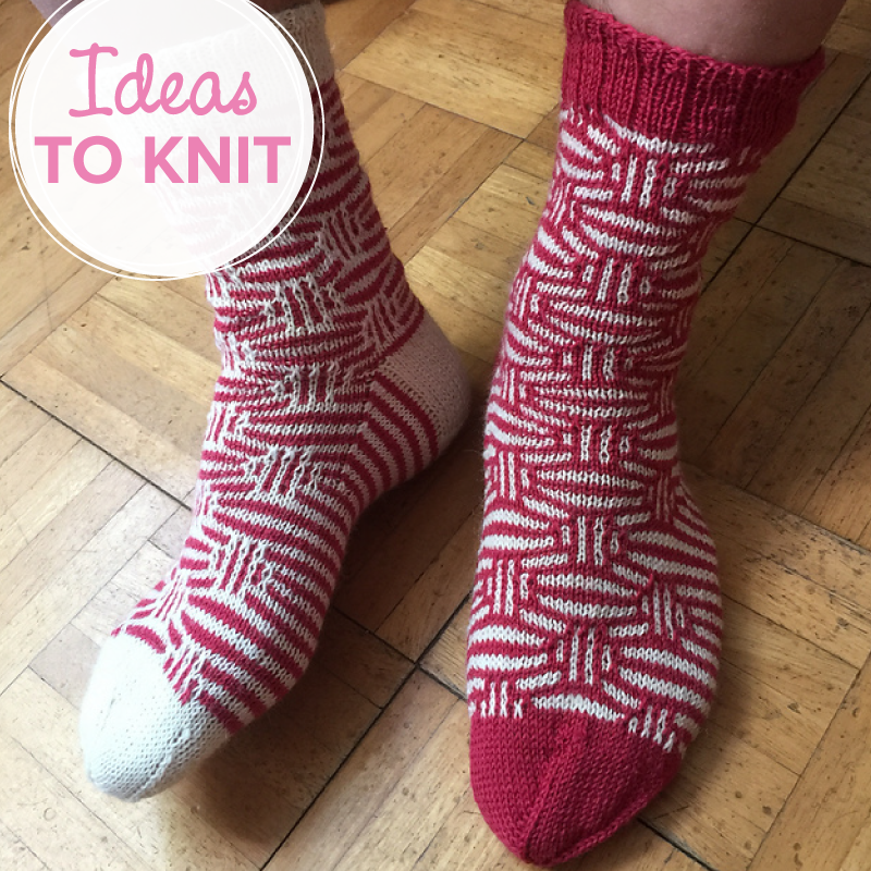 Mosaic Marbles  sock knitting pattern by Kirsten Hall