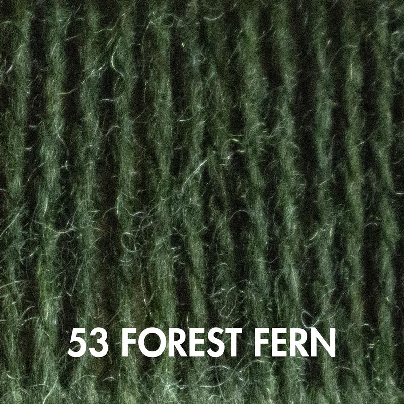 Forest Fern Fluffy Fingering merino yarn