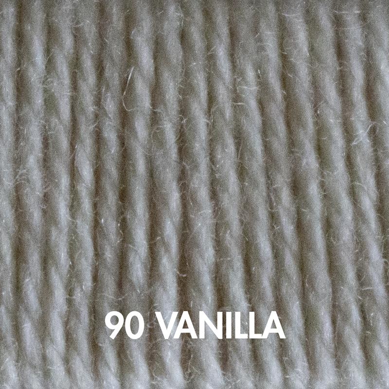 Vanilla Fluffy Fingering merino yarn