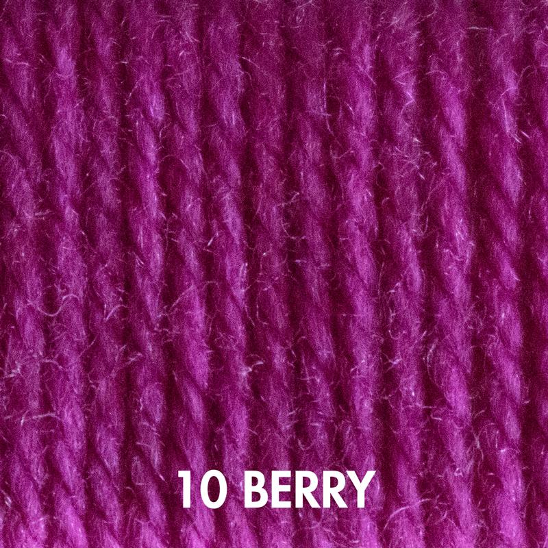 Berry Fluffy Fingering yarn