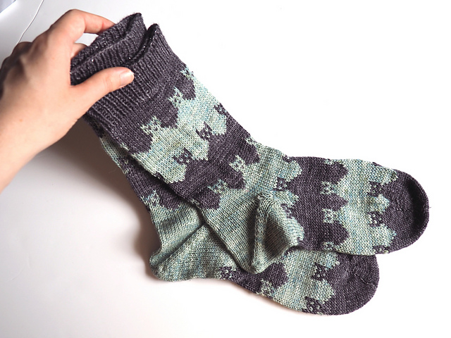 Prairie Cat Socks  knitting pattern on Ravelry