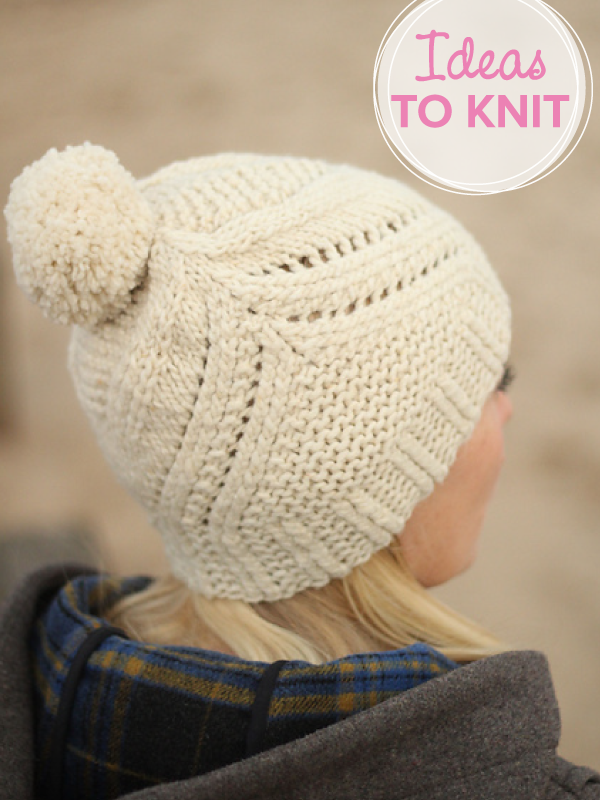 Fidra  hat knitting pattern by Gudrun Johnston