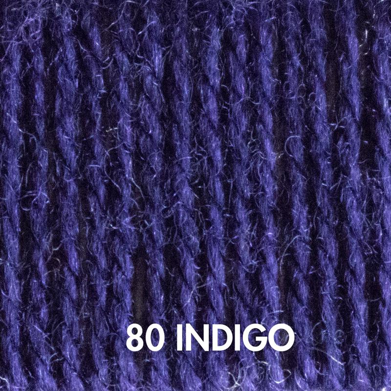 Baa Baa Bulky yarn in Indigo