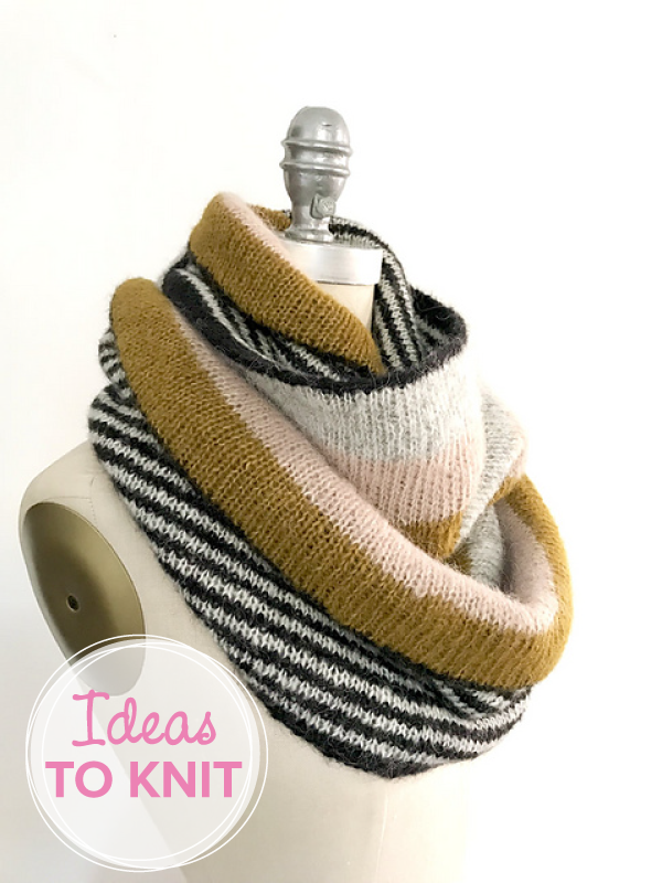 In the Loop  cowl free knitting pattern