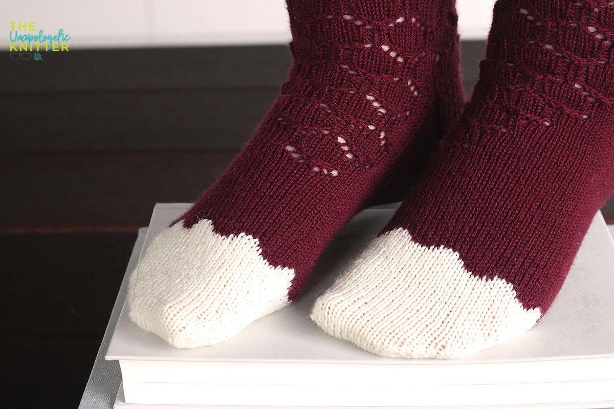 Velvet Wreath  sock knitting pattern by Meaghan Schmaltz