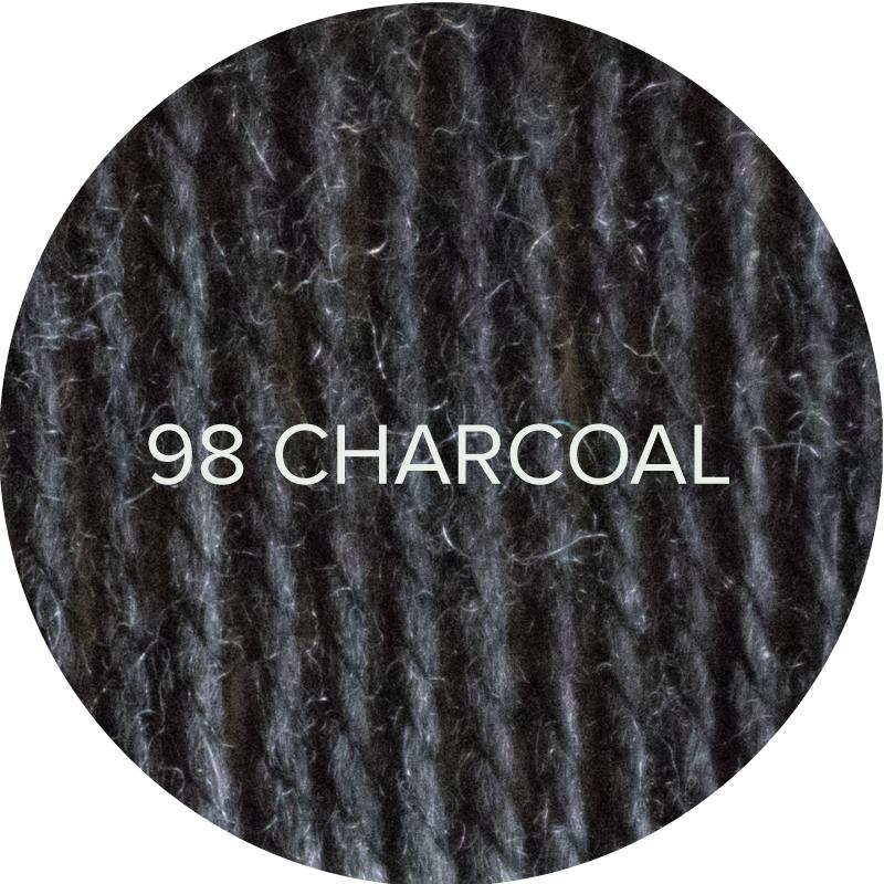 Fluffy Fingering merino yarn in Charcoal