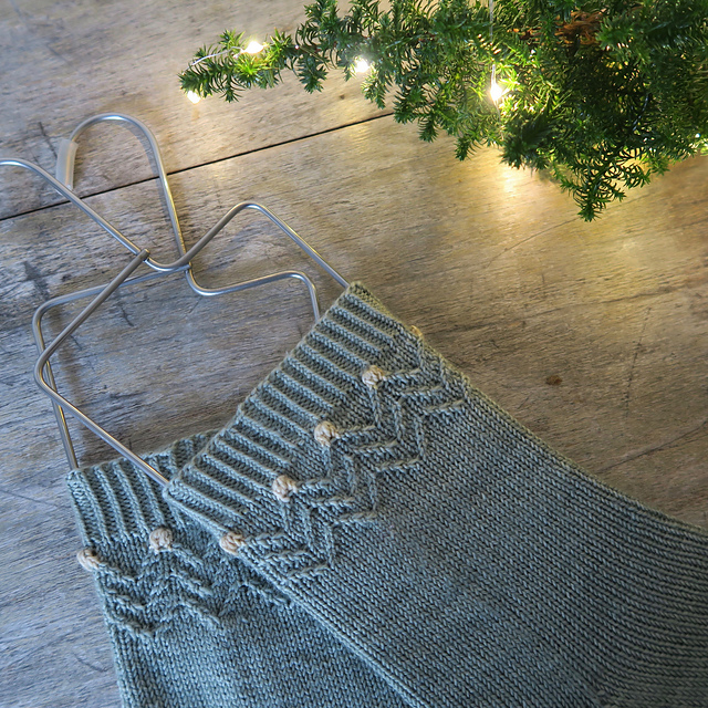 Twinkling Trees  holiday sock knitting pattern
